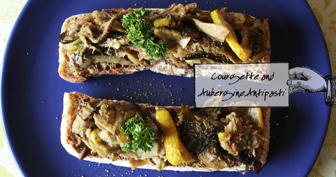 Courgette and Aubergine Antipasti 1