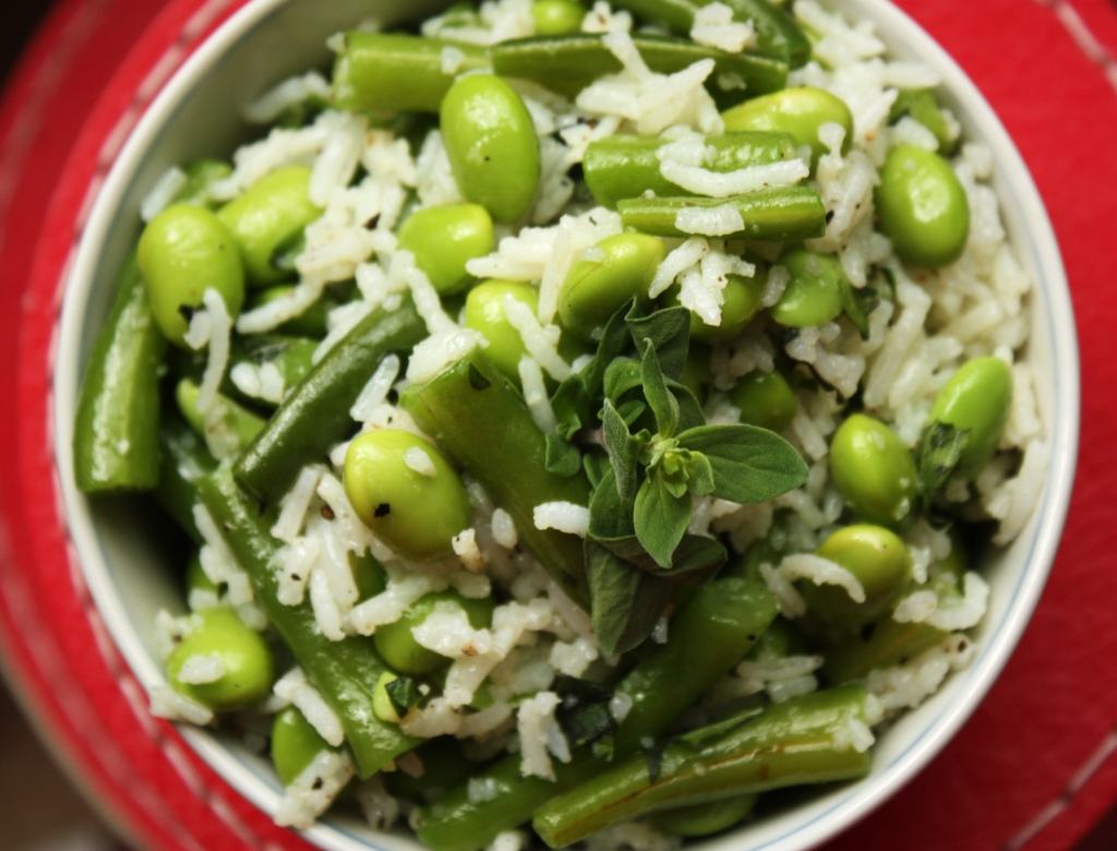 Green Beans and Rice Salad 2