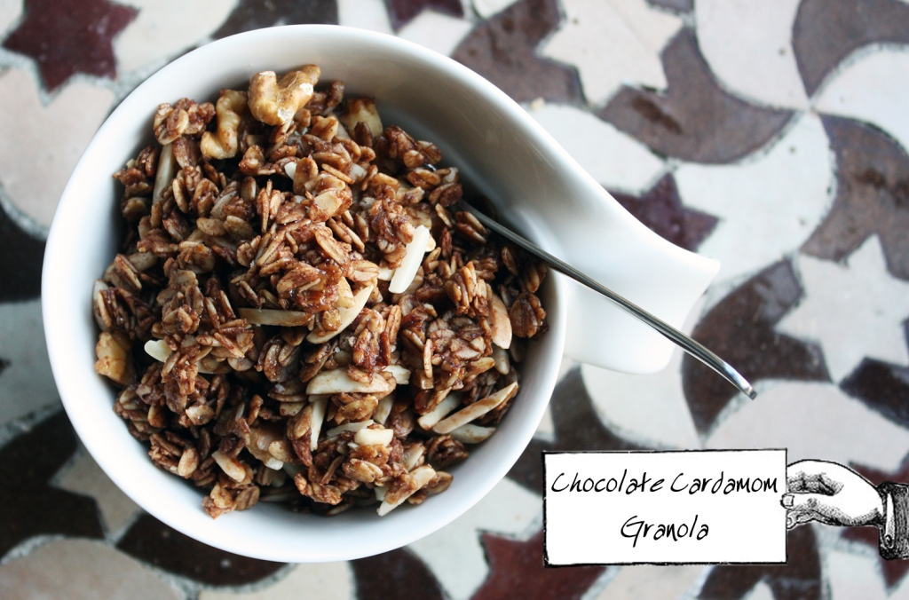 Chocolate Cardamom Granola 1